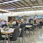6. In the dining hall at Kibbutz Kalya. Nice community!