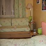 Single Room with comfortable twin bed and a sofa
