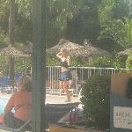 lydia doing water aerobics