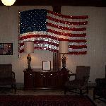 Flag in Lobby