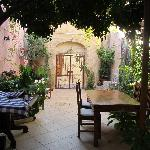 Back courtyard (we bought wine and relaxed back here during our stay)
