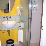 Shower and wash basin
