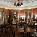 The hotel cafe is in historical hall of the beginning xx centuries
