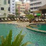 Pool at front of hotel