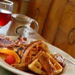 Breakfast -- Bananas Foster Waffles