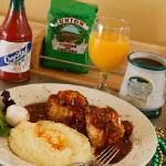 Breakfast -- Eggs Creole with Stone-Ground Grits