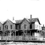 Original Hallock House in the 1800's