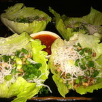 Lettuce Wraps.  A GREAT appetizer at Jinja!