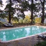 Higher Pastures The heated pool