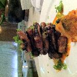 Kalbi short ribs and house kim chee