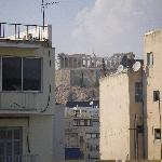 View of Acropolis from room at back