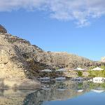 Swimming Pool around base of 100 year old mountain