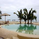 la piscina espectacular con pajaritos cantores que van a beber de alli
