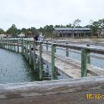 the pier at the campground