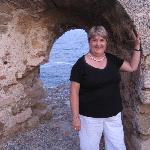 Walking along the sea wall