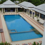 a view of the pool from the 3rd floor standard @ the front