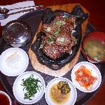Yummy Korean food from the onsite restaurant