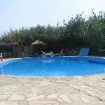 The pool and snack bar
