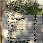 Affenwald Hinweisschild Lageplan