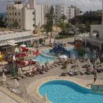 View of the water Park from room 341