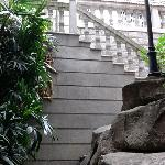 staircase at the back