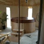 Our private hot tub room