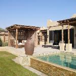 terrasse et piscine villa