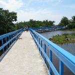 The bridge to the beach.