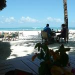 View from the beach cafe