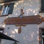 Eingangsfassade zum Restaurant im Innenhof