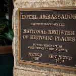 National Regsiter of Historic Places Placard