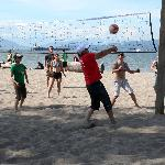 Friendly game of Volleyball at Jericho Beach