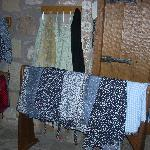An assortment of wrap skirts and blouses are available for those whose costumes are a bit bare.