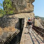 The walkway to the steps leading to the Monastery of St. Varlaam stretches over a chasm that mad