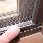 Dirt and dust on sills & screens