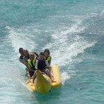 Banana boat..doesn't go real fast so gotta make yr own fun a little,,,
