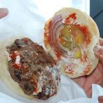 My burger - yum!