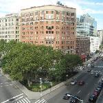 View from corner window