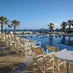 Main swimming pool from beach bar