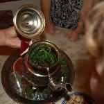 Learning about the custom of Moroccan mint tea.