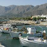 The harbour with the Taverna in the background