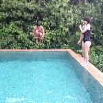my son and daughter enjoyed having a pool with our villa.