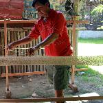 The friendly Mayan artisan who made our hammocks