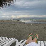 playa privada justo afuera de nuestro bloque