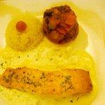salmon in Bearnaise Sauce