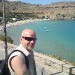 baking hot at Lindos