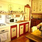 la cuisine d 'Elisabeth et ses fresques
