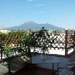 Il panorama dalla terrazza delle camere