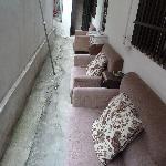 Sofas outside