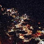 Nightime view of the resort from the skybar